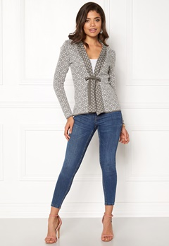 Happy Holly Regina cardigan Grey / Offwhite Bubbleroom.se