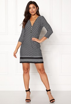 Happy Holly Renata dress Black / Offwhite Bubbleroom.se