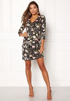 Happy Holly Renata dress Black / Patterned Bubbleroom.se