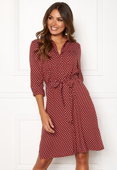 Happy Holly Ronja ls shirt dress Dotted Bubbleroom.se