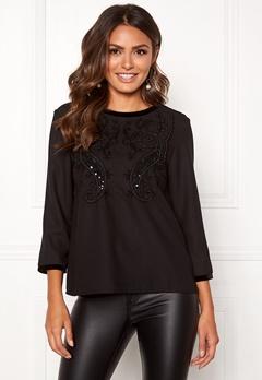 Happy Holly Sabrina blouse Black Bubbleroom.se