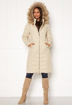Happy Holly Sadie long jacket Beige Bubbleroom.se