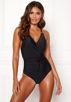 Happy Holly Salma swimsuit Black Bubbleroom.se