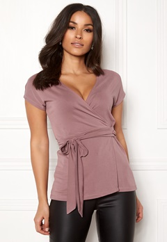 Happy Holly Samantha wrap top Heather pink Bubbleroom.se
