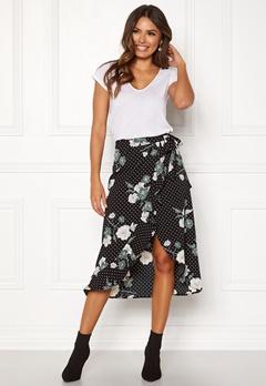 Happy Holly Sandie skirt Black / Patterned Bubbleroom.se