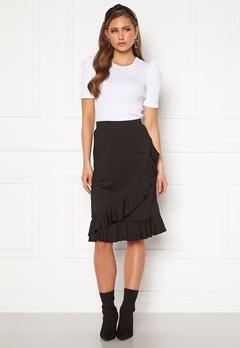 Happy Holly Sandy frill skirt  Black Bubbleroom.se