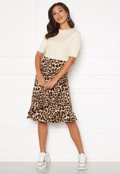 Happy Holly Sandy frill skirt  Leopard Bubbleroom.se