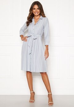 Happy Holly Sanna shirt dress Blue / Striped Bubbleroom.se