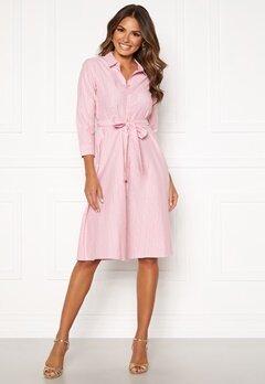 Happy Holly Sanna shirt dress Pink / Striped Bubbleroom.se