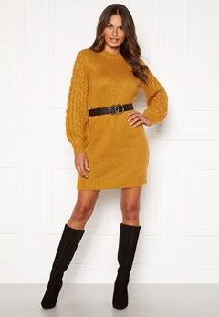 Happy Holly Sara long sweater Dark yellow Bubbleroom.se