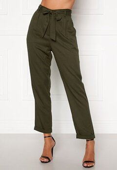 Happy Holly Sarah utility pants Khaki green Bubbleroom.se