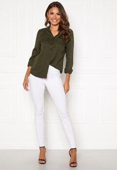 Happy Holly Sarah utility shirt Khaki green Bubbleroom.se