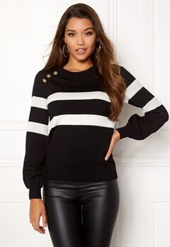 Happy Holly Sasha sweater Black Bubbleroom.se