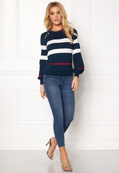 Happy Holly Sasha sweater Dark navy Bubbleroom.se