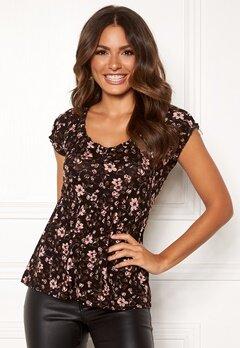 Happy Holly Scarlett top Black / Patterned Bubbleroom.se