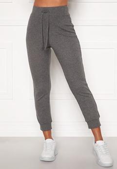 Happy Holly Selena cosy pants Grey melange Bubbleroom.se