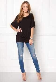 Happy Holly Serena cuff tunic Black Bubbleroom.se