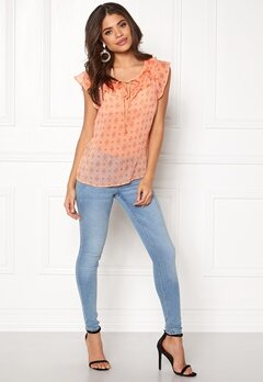 Happy Holly Siri Blouse Coral / Patterned Bubbleroom.eu