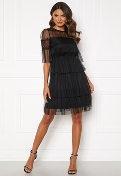 Happy Holly Smilla mesh dress Black Bubbleroom.se