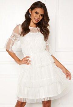 Happy Holly Smilla mesh dress White Bubbleroom.se