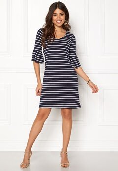 Happy Holly Sophia dress Navy / Striped Bubbleroom.se
