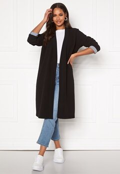 Happy Holly Stefanie tricot coat Black Bubbleroom.se