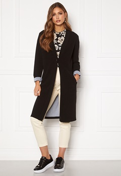 Happy Holly Stefanie tricot coat Black Bubbleroom.se