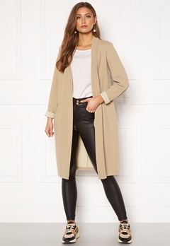 Happy Holly Stefanie tricot coat Beige Bubbleroom.se