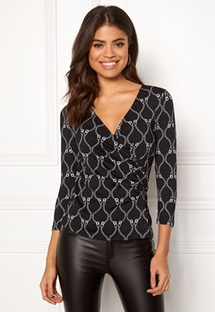 Happy Holly Stella top Black / Patterned Bubbleroom.se