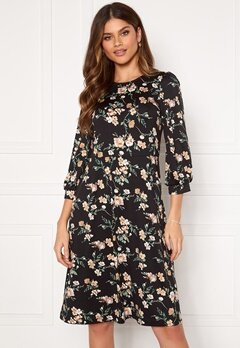Happy Holly Susanna midi dress Black / Patterned Bubbleroom.se