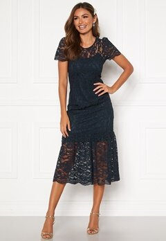 Happy Holly Taylor occasion lace dress Dark blue Bubbleroom.se