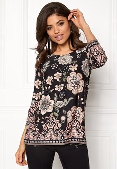 Happy Holly Taylor top Black / Patterned Bubbleroom.se