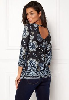 Happy Holly Taylor top Medium blue / Patterned Bubbleroom.se