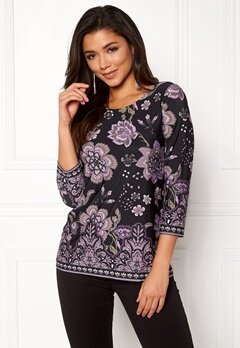 Happy Holly Taylor top Purple / Patterned Bubbleroom.se