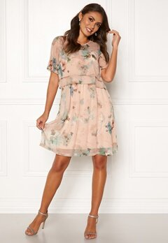 Happy Holly Teodora occasion dress Dusty pink / Patterned Bubbleroom.se