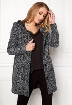 Happy Holly Teresia coat Black Bubbleroom.fi