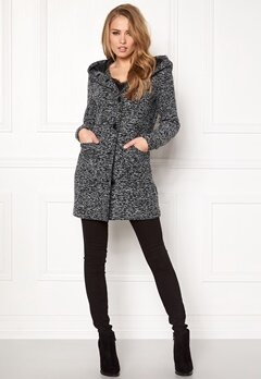 Happy Holly Teresia coat Black Bubbleroom.se