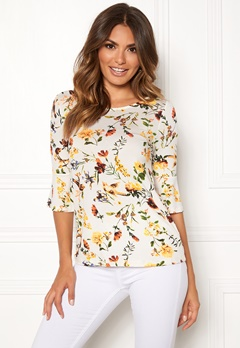 Happy Holly Tereza top Offwhite / Patterned Bubbleroom.se