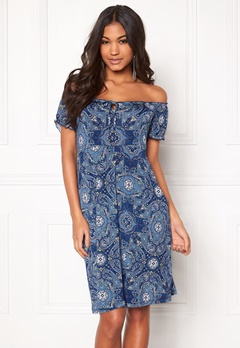 Happy Holly Tessan dress Medium blue / Paisley Bubbleroom.se