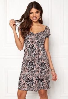 Happy Holly Tessan dress Pink / Patterned Bubbleroom.se