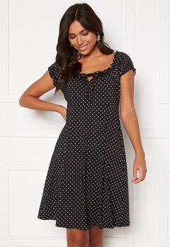 Happy Holly Tessan dress Offwhite / Black Bubbleroom.se