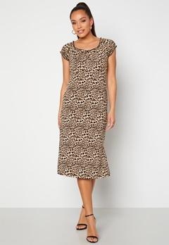Happy Holly Tessan midi dress Leopard bubbleroom.se