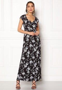 Happy Holly Tessie maxi dress Black / Offwhite Bubbleroom.se