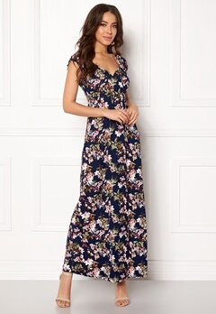 Happy Holly Tessie maxi dress Blue / Patterned Bubbleroom.se