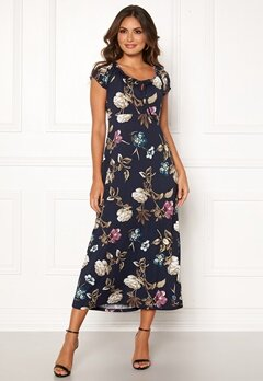Happy Holly Tessie maxi dress Dark blue / Patterned Bubbleroom.se