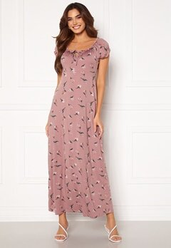 Happy Holly Tessie maxi dress Dusty pink / Patterned Bubbleroom.se