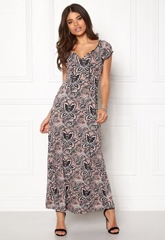 Happy Holly Tessie maxi dress Pink / Patterned Bubbleroom.se