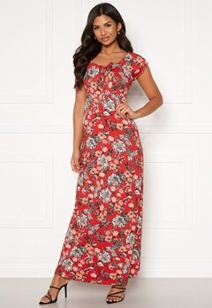 Happy Holly Tessie maxi dress Red / Patterned Bubbleroom.se