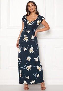 Happy Holly Tessie maxi dress Dark blue / Patterned Bubbleroom.se