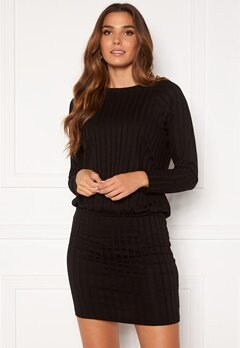 Happy Holly Thea cuff dress Black Bubbleroom.se